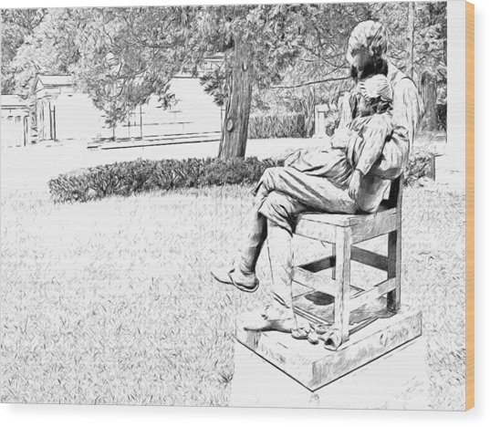 Motherless Sculpture By George Anderson Lawson Wood Print