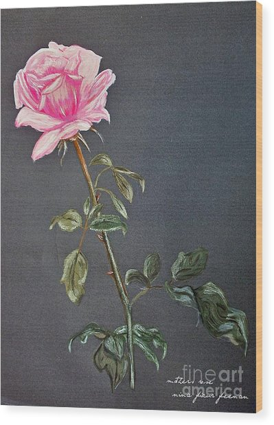 Mothers Rose Wood Print