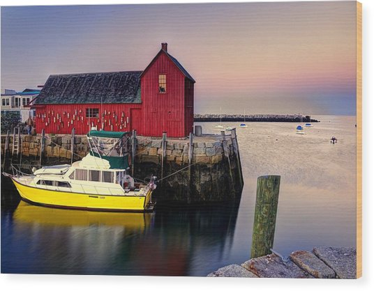 Motif No. 1 On Bearskin Neck Wood Print