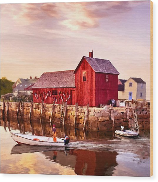 Motif Number One Rockport Massachusetts  Wood Print