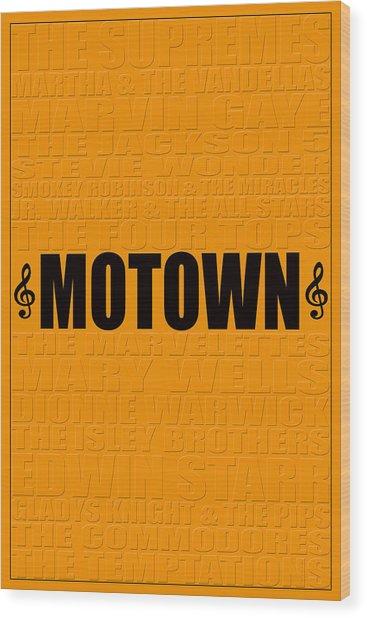 Motown Wood Print