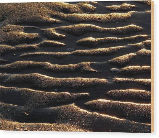 Moulded Sand Wood Print