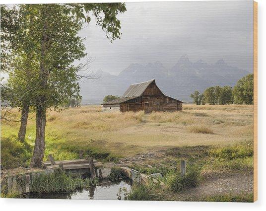Moulton Barn At Mormon Row Wood Print