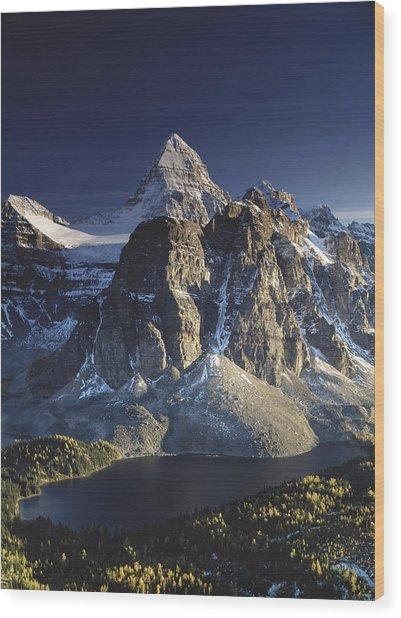 Mount Assiniboine And Sunburst Lake Wood Print