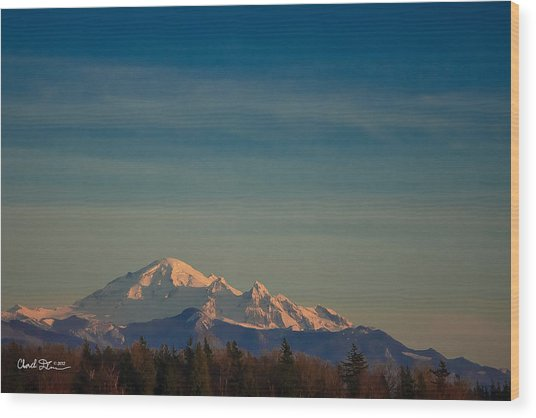 Mount Baker Sunset Wood Print