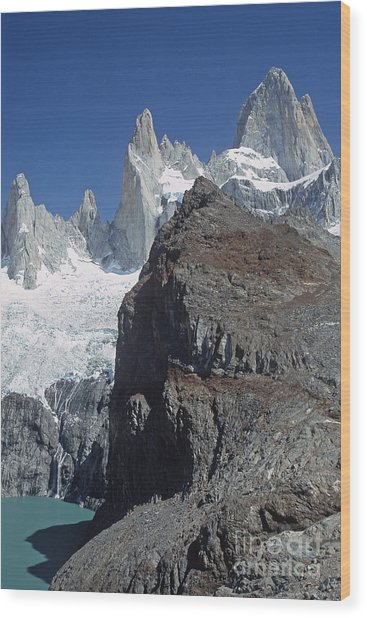 Mount Fitzroy Patagonia Wood Print