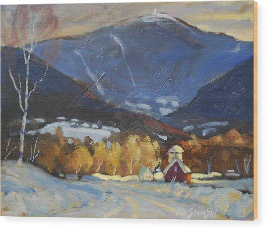 Mount Greylock From Williamstown Wood Print