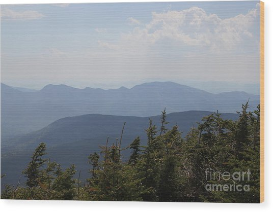 Mount Hancock Summit View Wood Print