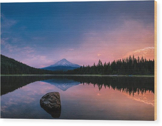 Mount Hood Magic Wood Print