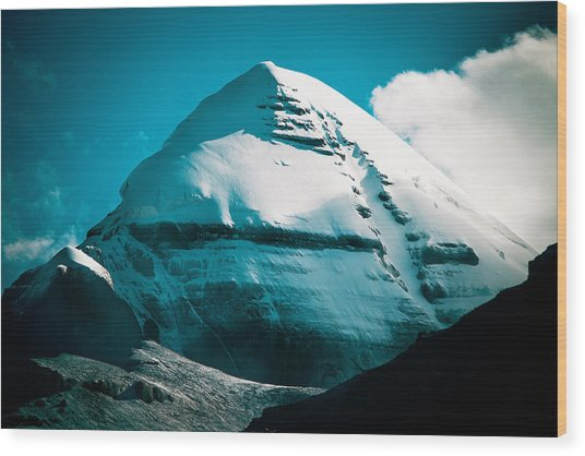 Mount Kailash Home Of The Lord Shiva Wood Print