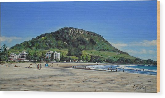 Mount Maunganui Beach 151209 Wood Print