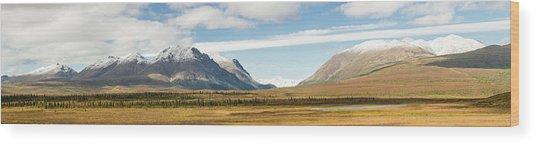 Mount Moffit And Mcginnis Peak Landmark Wood Print