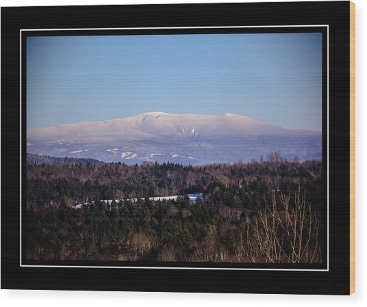 Mount Moosilauke Snowy Blanket Wood Print