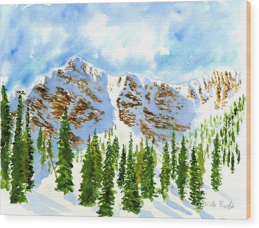 Mount Ogden Wood Print