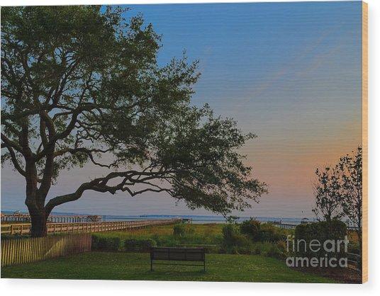 Mount Pleasant Sunset Wood Print