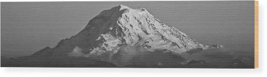 Mount Rainier Landscape Wood Print