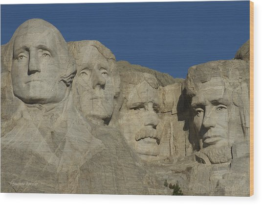 Mount Rushmore Wood Print