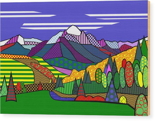 Mount Sneffels Wood Print