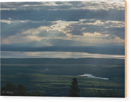 Mount Susitna Wood Print
