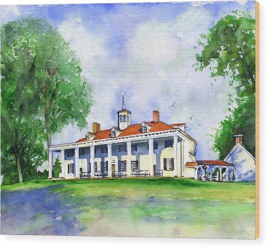 Mount Vernon Front Wood Print