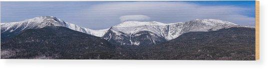Mount Washington And The Ravines Winter Pano Wood Print