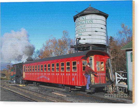 Mount Washington Cog Railway Car 6 Wood Print