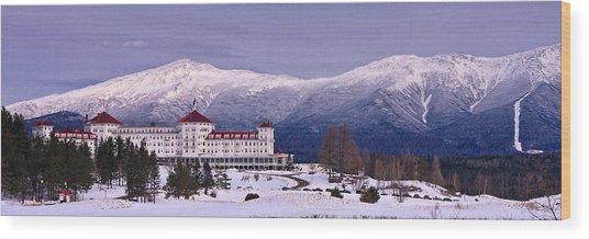 Mount Washington Hotel Winter Pano Wood Print