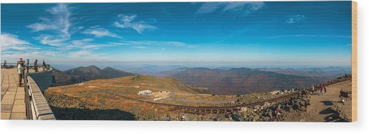 Mount Washington Observatory Wood Print by Andre Albert
