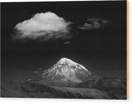 Mountain And Cloud Wood Print