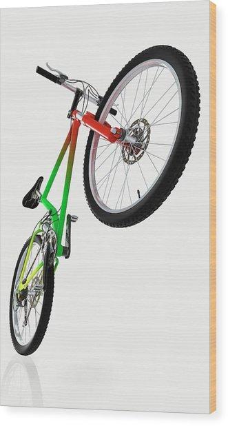 Mountain Bike Wood Print by Dorling Kindersley/uig