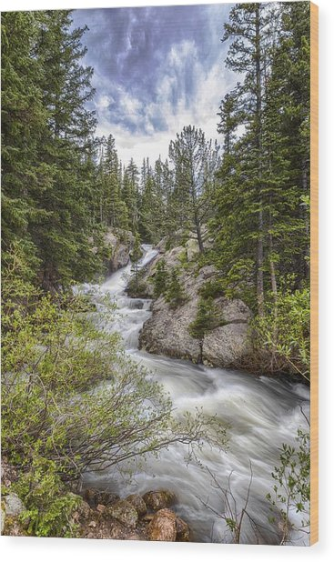 Mountain Cascades  Wood Print by Garett Gabriel