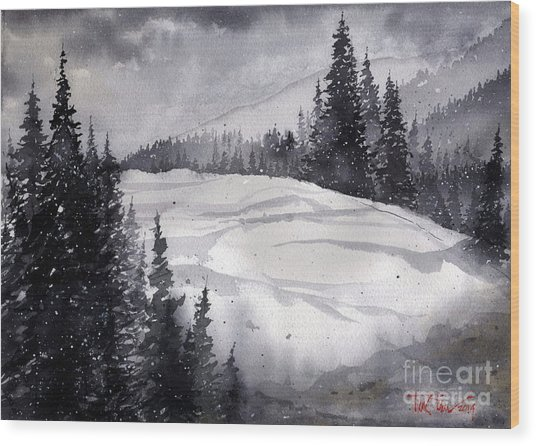Mountain Drift Wood Print
