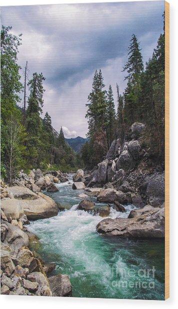 Mountain Emerald River Photography Print Wood Print