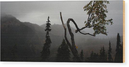 Mountain Fog Wood Print