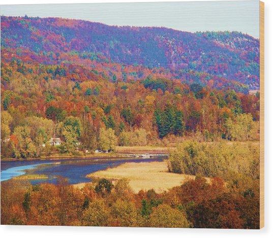 Mountain Foliage Series 007 Wood Print