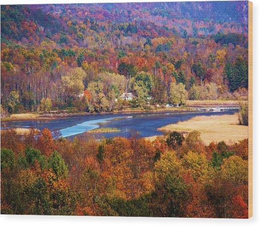 Mountain Foliage Series 009 Wood Print