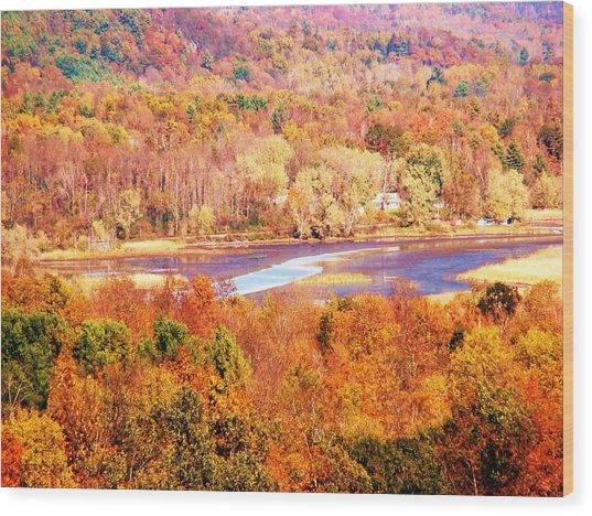 Mountain Foliage Series 010 Wood Print