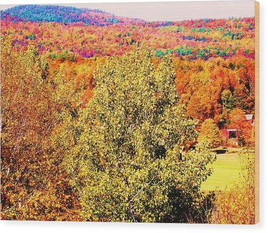 Mountain Foliage Series 017 Wood Print