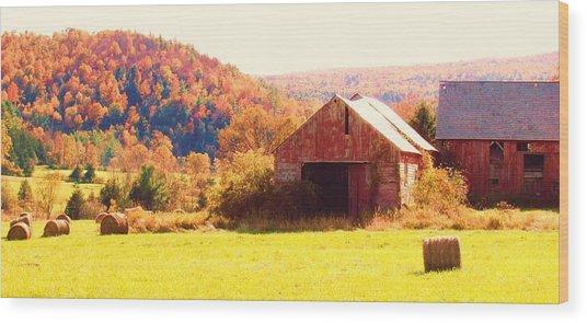 Mountain Foliage Series 062 Wood Print