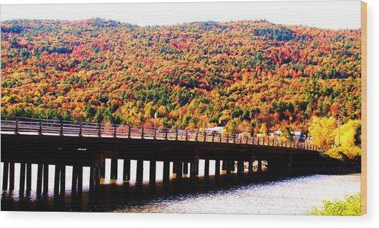 Mountain Foliage Series 071 Wood Print