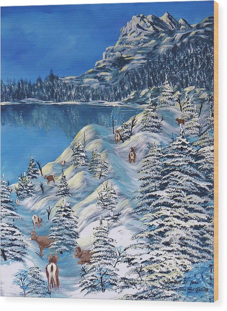 Mountain Goats Of Grand Forks Wood Print
