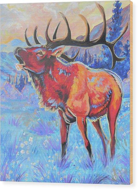 Mountain Lord Wood Print