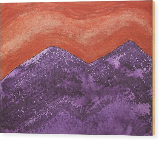 Mountain Majesty Original Painting Wood Print