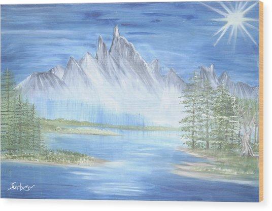 Mountain Mist 2 Wood Print