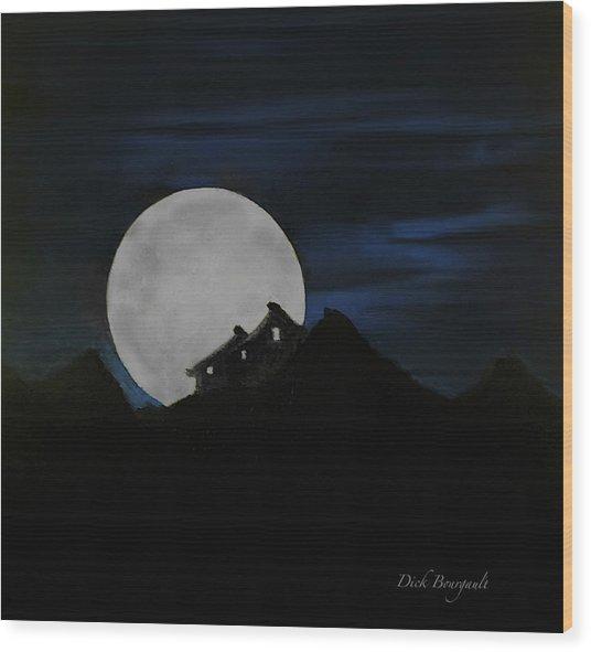 Mountain Monastery Wood Print