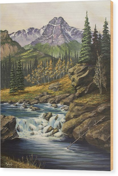 Mountain Of The Holy Cross Wood Print