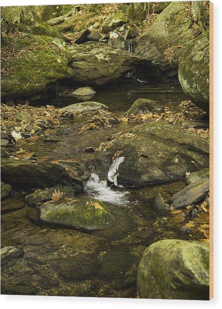 Mountain Pools Wood Print