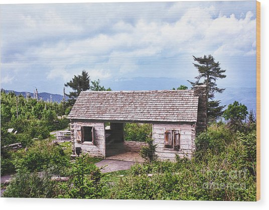 Mountain Rest Stop Wood Print