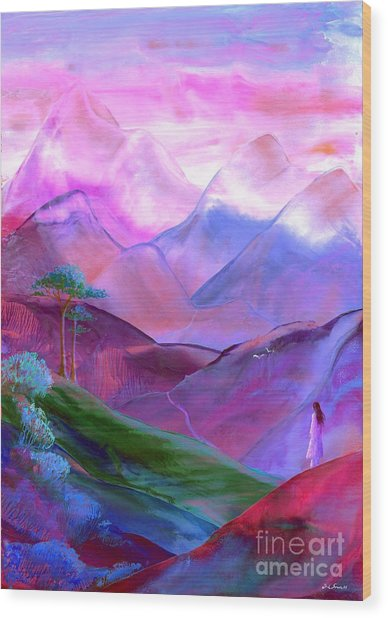 Mountain Reverence Wood Print