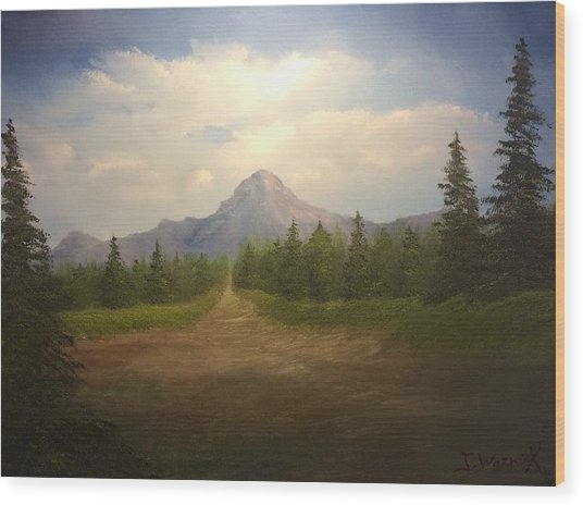 Mountain Run Road  Wood Print